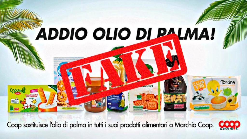 Coop stop olio di palma